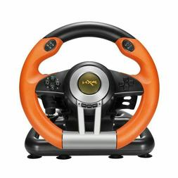 Racing Game Steering Wheel with Brake Pedal for PC/PS3/PS4/S