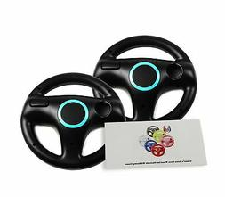 Racing Steering Wheel Mario Cart Remote Game Controller Blac