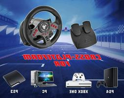 Racing Steering Wheel Pedal Set for Playstation 4 PS4 Pro Sl