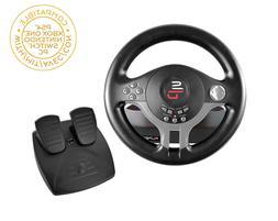 Steering Wheel Racing Gaming Simulator And Pedal Set Driving