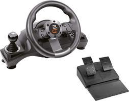 Racing Steering Wheel Shifter Pedal Set PlayStation 4 PS4 Pr