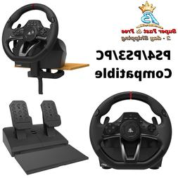 Realistic Play Station Steering Wheel Pedal Racing Gaming Si