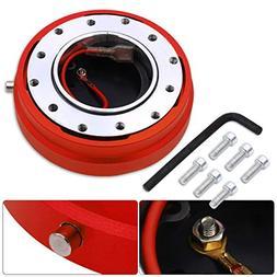 AJP Distributors Red Thin Slim Quick Release Steering Wheel