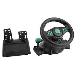 Braceus Gaming Steering Wheel, 180 Degrees Rotation ABS Gami