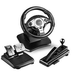DOYO 900 Degree Rotation Pro Sport Racing Wheel for Multi Pl