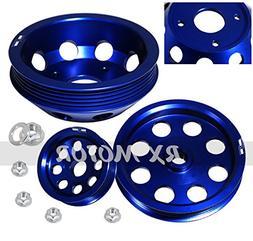 Rxmotor Pulley Kit Power Steering Alternator Water Pump for
