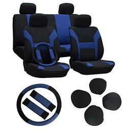 Seat Cover cciyu Universal Car Seat Cushion w/Headrest/Steer
