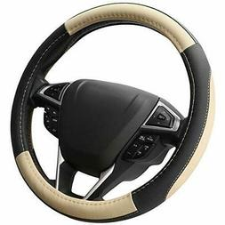 SEG Direct Black and Beige Microfiber Leather Auto Car Steer