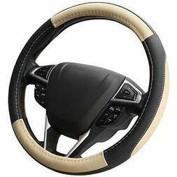 SEG Direct Black and Beige Microfiber Leather Auto Car Steer
