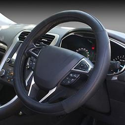 SEG Direct Black Microfiber Leather Auto Car Steering Wheel