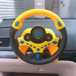 Simulated Driving Steering Wheel Kids Toys Electric Musical
