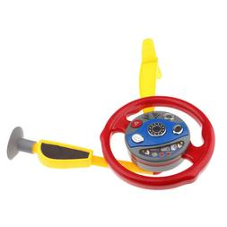 MagiDeal Simulated Electric Steering Wheel Kid Driver Role P