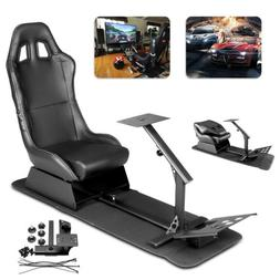 Simulator Cockpit Steering Wheel Stand Racing Seat Gaming Ch