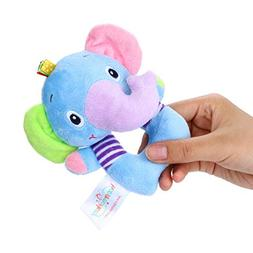 LtrottedJ Infant Baby Soft Stuffed Hand Bells Animal Handbel