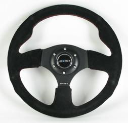 NRG Innovations ST-012S 320mm Sport Suede Steering Wheel Rac