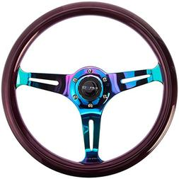 NRG Innovations ST-015MC-PP Classic Wood Grain Wheel