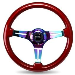 NRG Innovations ST-015MC-RD Classic Wood Grain Wheel