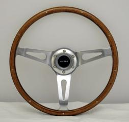 NRG Innovations ST-065 Classic Wood Grain Wheel with Metal A