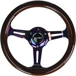 NRG Innovations ST-310BRB-MC Classic Dark Wood Grain Wheel ,