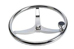 "SeaLux Stainless Steel Boat Steering Wheel 3 Spoke 13-1/2"" D"