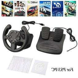 Steering Wheel Controller PC Joystick Gamepad Gaming Racing