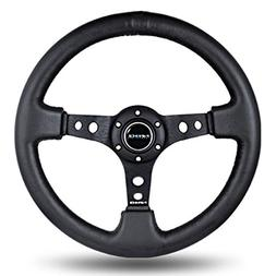 "NRG Innovations Steering Wheel Deep Dish 3"" Inches Black Lea"