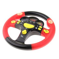 STEERING WHEEL KIDS PRETEND PLAY TOY WITH LIGHT FLASHING & S