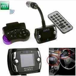 Steering Wheel Remote Control Bluetooth LCD FM Transmitter M