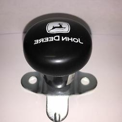 John Deere Steering Wheel Spinner, Current Logo in White on