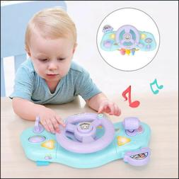 Steering Wheel Toy Baby Educational Driving Simulation Light