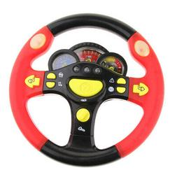 Steering Wheel Toy Car Simulated Driving Wheel Electric Musi