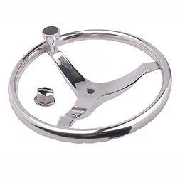 "M-ARINE BABY SPORTS STEERING WHEEL 15-1/2"" with KNOB and a 5"