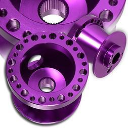 T6061 Purple Aluminum Steering Wheel 6-Hole HUB Adapter For