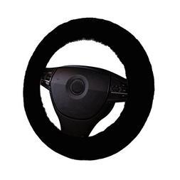 U&M Car Stretch-on Steering Wheel Cover Soft Australian Natu