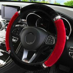 Universal 37-38cm Soft Car Steering Wheel Cover Interior Acc
