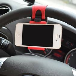 Universal Car Phone Holder Mount Stand Steering Wheel Clip F