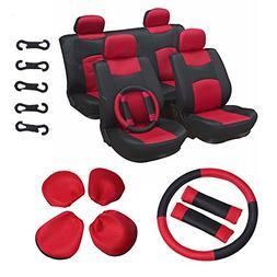 ECCPP Universal Car Seat Cover w/Headrest/Steering Wheel/Sho