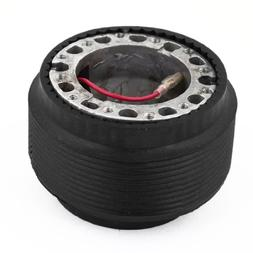 uxcell Black Steering Wheel Hub Boss Adapter w Ring Mode OT-