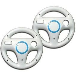 AMAZECO White Mario Kart Racing Wheel for Nintendo Wii Remot