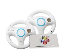 GH 2 Pack Wii Steering Wheel for Mario Kart 8 and Other Nint