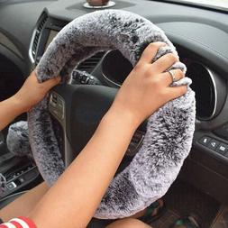 Winter Super Soft Plush Car <font><b>Steering</b></font> <fo