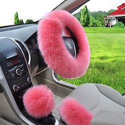 W-ShiG Winter Warm Faux Wool Handbrake Cover Gear Shift Cove